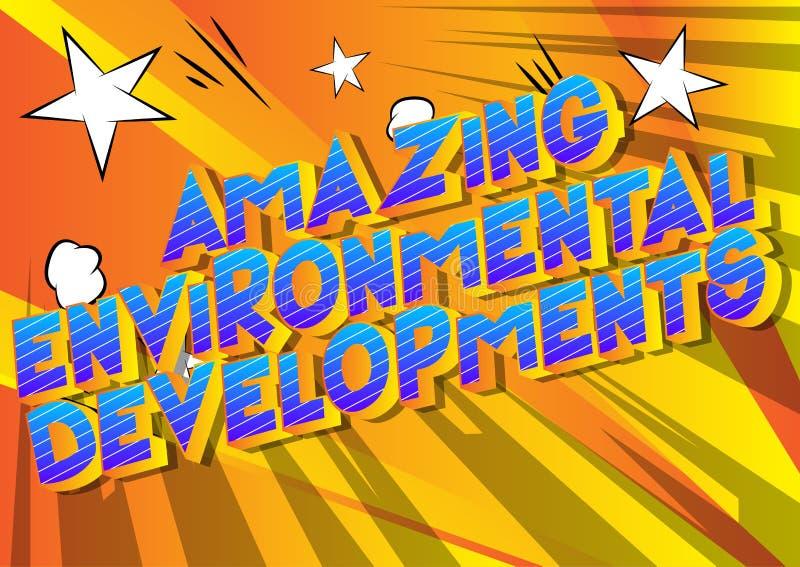 令人惊讶的环境发展-漫画样式词 皇族释放例证