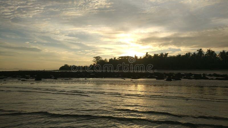 令人惊讶的看法美好的天气Cox& x27;sBazar,孟加拉国 免版税库存照片