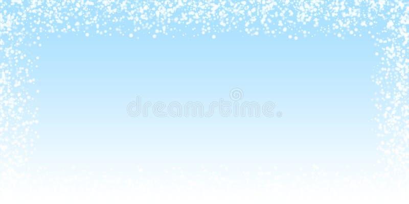 令人惊讶的落的雪圣诞节背景 细微 库存例证