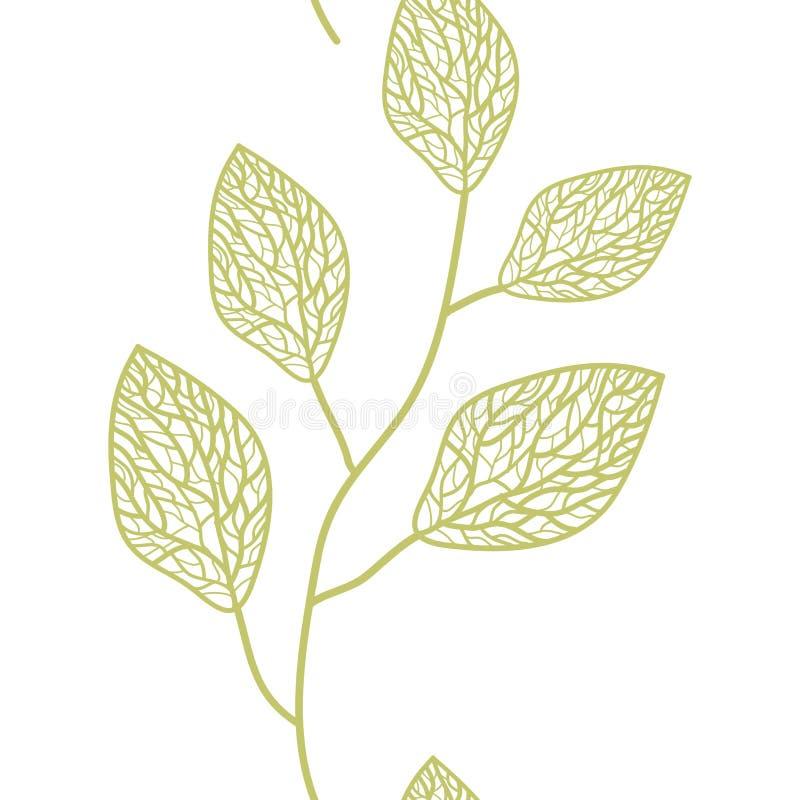 令人愉快的庭院无缝的样式 无缝叶子的模式 库存例证