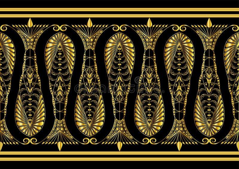令人敬佩的金模式 皇族释放例证