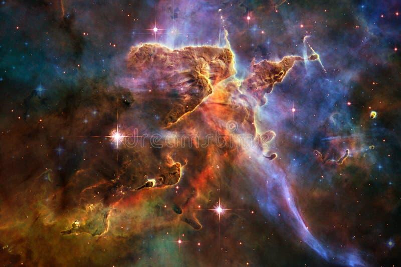 令人敬畏外层空间 数十亿在宇宙的星系 免版税图库摄影