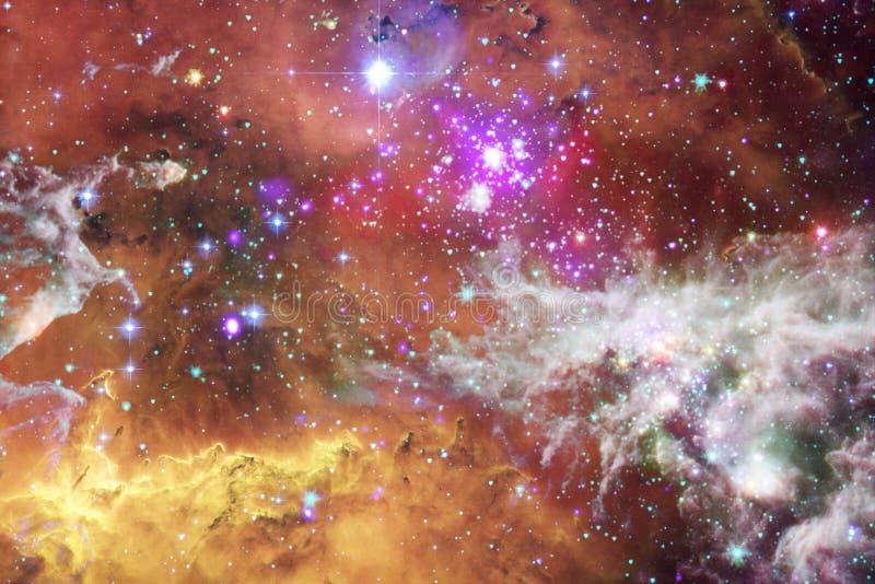 令人敬畏外层空间 数十亿在宇宙的星系 库存图片