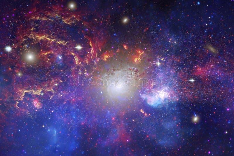令人敬畏外层空间 数十亿在宇宙的星系 图库摄影