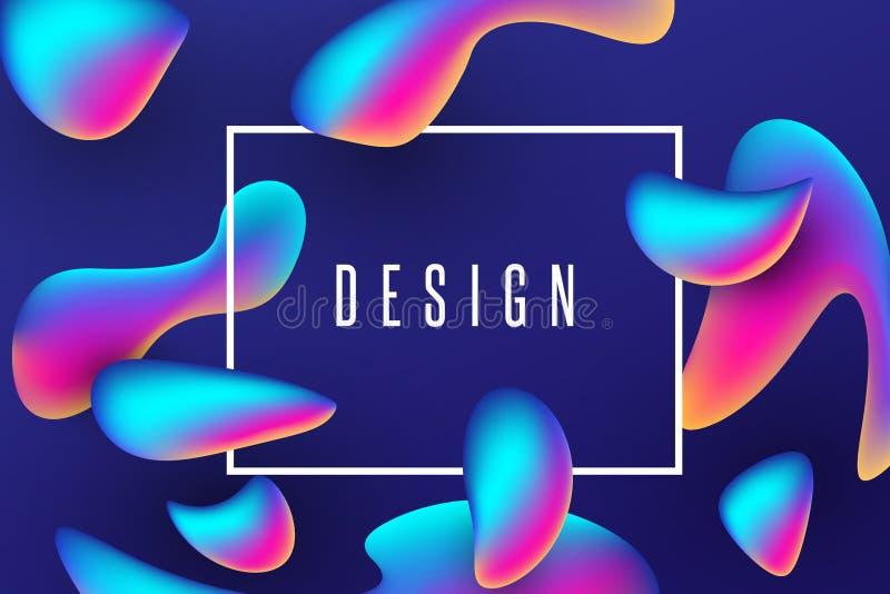 令人敬畏的五颜六色的可变的海报背景 向量例证