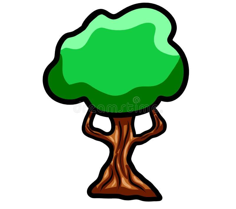 令人敬畏的动画片树 皇族释放例证