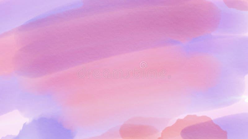 令人敬畏的抽象webdesign的水彩紫色背景,五颜六色的背景,被弄脏,墙纸 库存例证