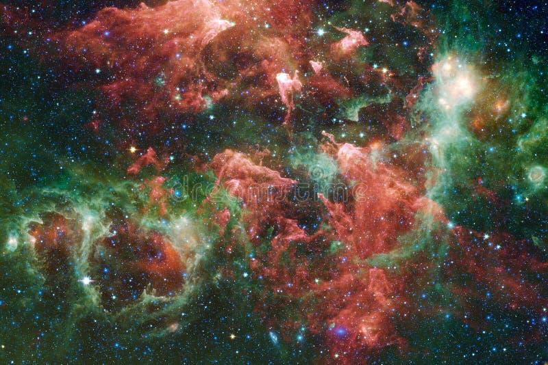令人敬畏的星云 数十亿在宇宙的星系 图库摄影