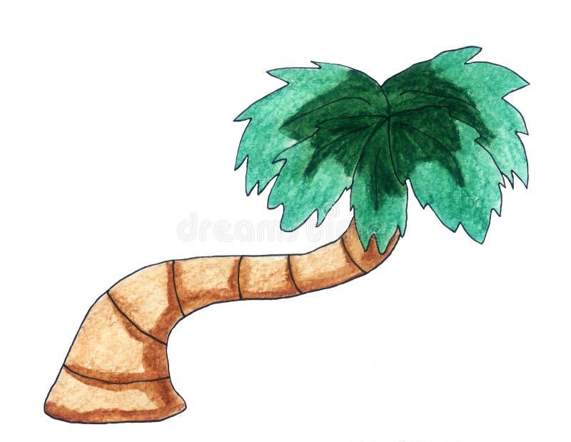 令人敬畏的热带棕榈树 向量例证
