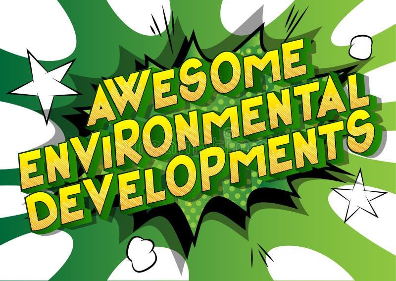 令人敬畏的环境发展-漫画样式词 皇族释放例证