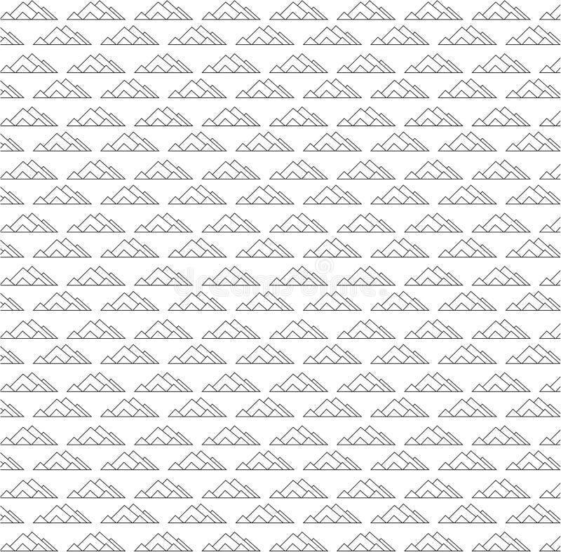 令人敬畏的金字塔无缝的样式传染媒介 库存例证