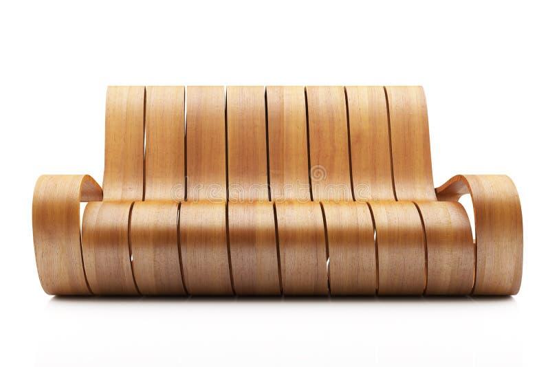 令人敬畏的长沙发木头 向量例证