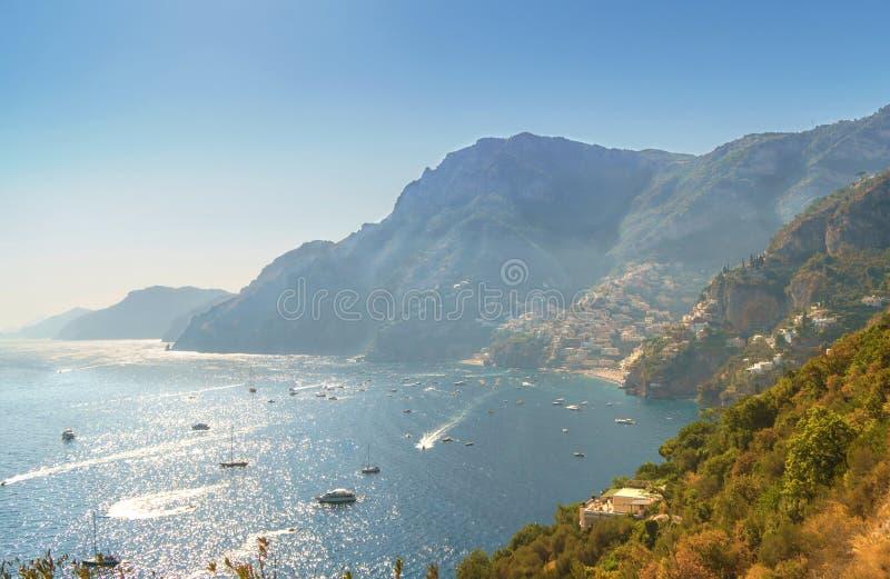 令人敬畏的阿马飞海岸省褶皱藻属,意大利 库存照片