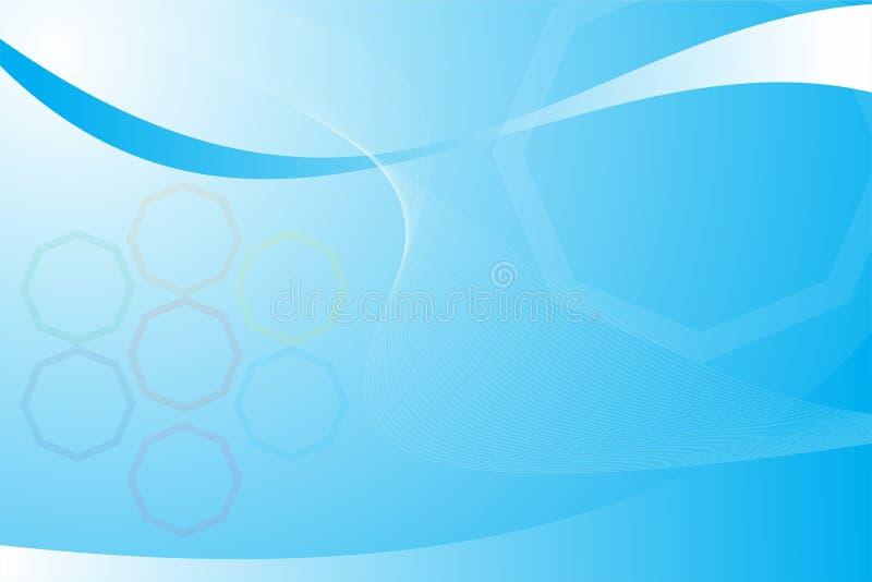 令人敬畏背景蓝色抽象现代传染媒介设计的艺术想象白色五颜六色 向量例证