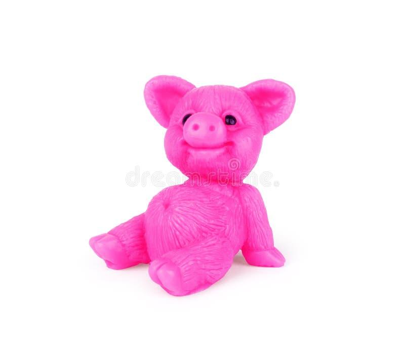 以一头猪的形式手工制造肥皂在白色背景 免版税库存照片