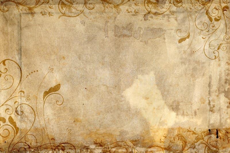 以华丽纸张为特色的古色古香的设计 免版税库存照片