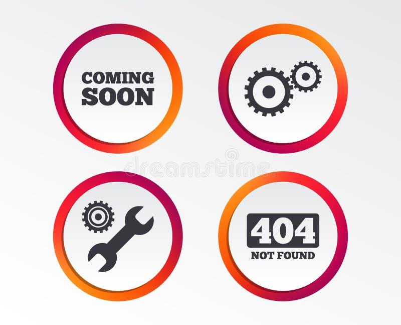以后的图标很快 修理公司工具和齿轮 库存例证