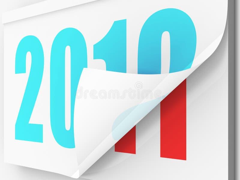 以后的新年度 库存例证