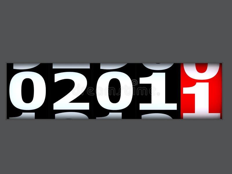 以后的新年度 免版税库存照片