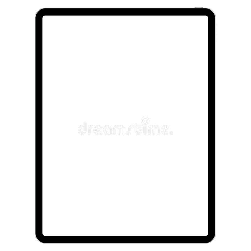 以图例解释者的画的垫白色背景的 库存例证