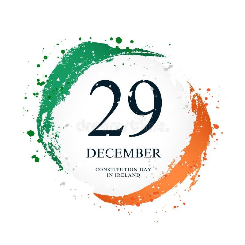 以圈子的形式爱尔兰旗子 12月29日-宪法天在爱尔兰 库存例证