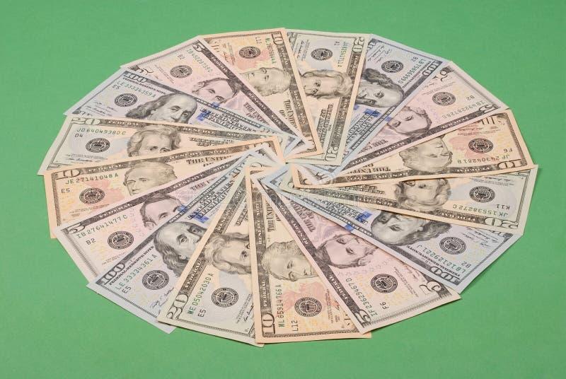 以圈子的形式金钱 图库摄影