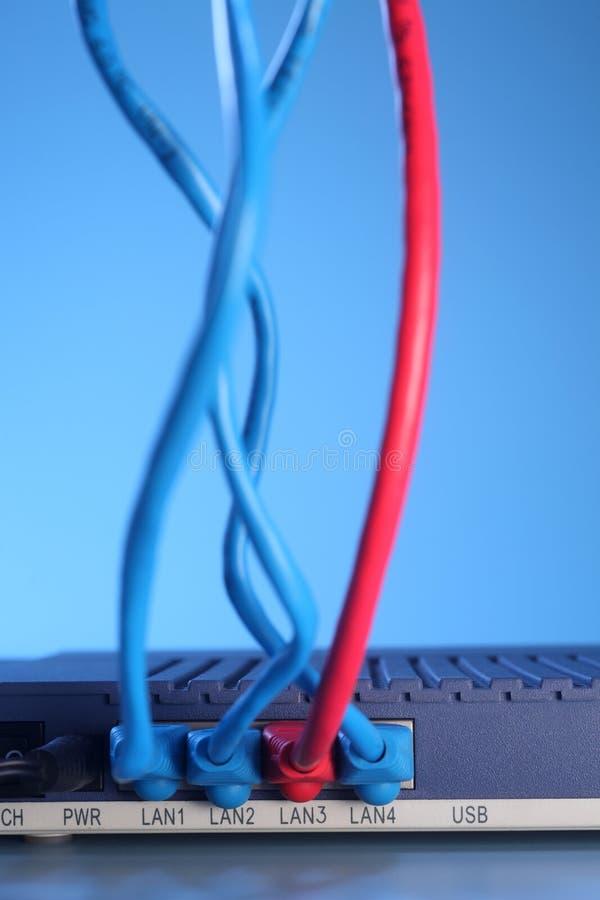 以太网电缆 免版税库存照片