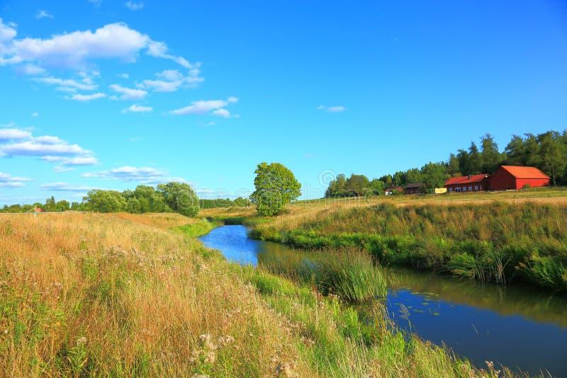 以小河为目的自然风景 图库摄影