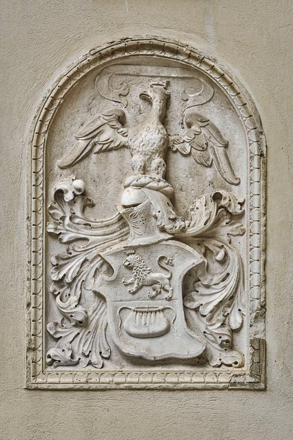 以徽章的浅浮雕的形式 免版税库存图片
