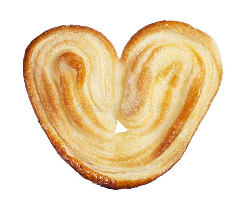 以心脏的形式曲奇饼 库存图片