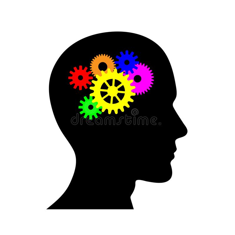 以机制的形式人脑 皇族释放例证
