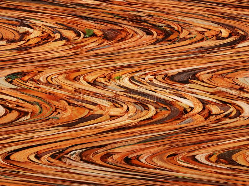 以橙色棕色颜色的形式波浪的抽象背景  免版税库存照片