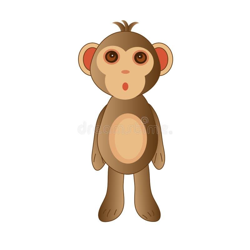 以玩具的形式逗人喜爱的猴子 皇族释放例证