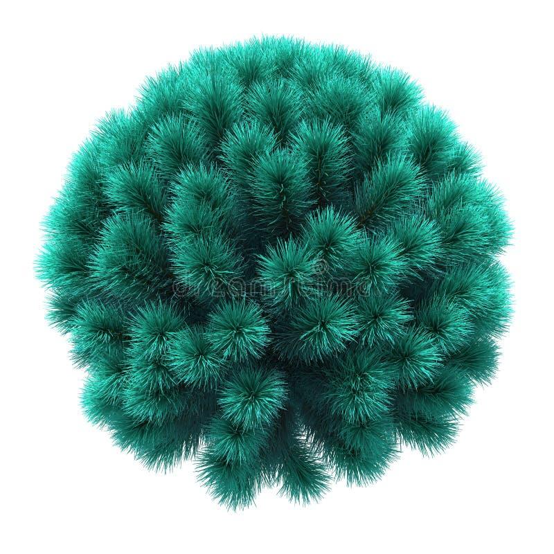以球形的形式圣诞树 向量例证