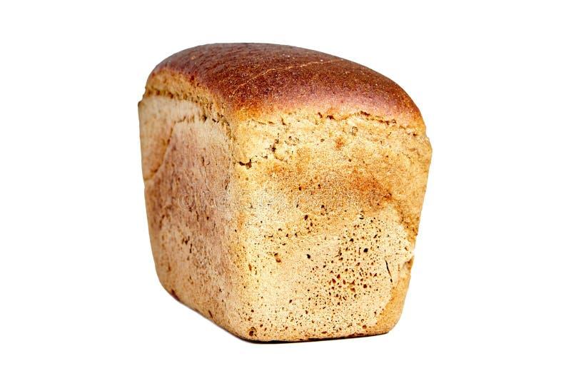 以砖的形式,布朗酿造了面包 免版税库存照片