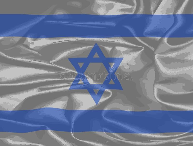 以色列丝绸旗子 库存例证