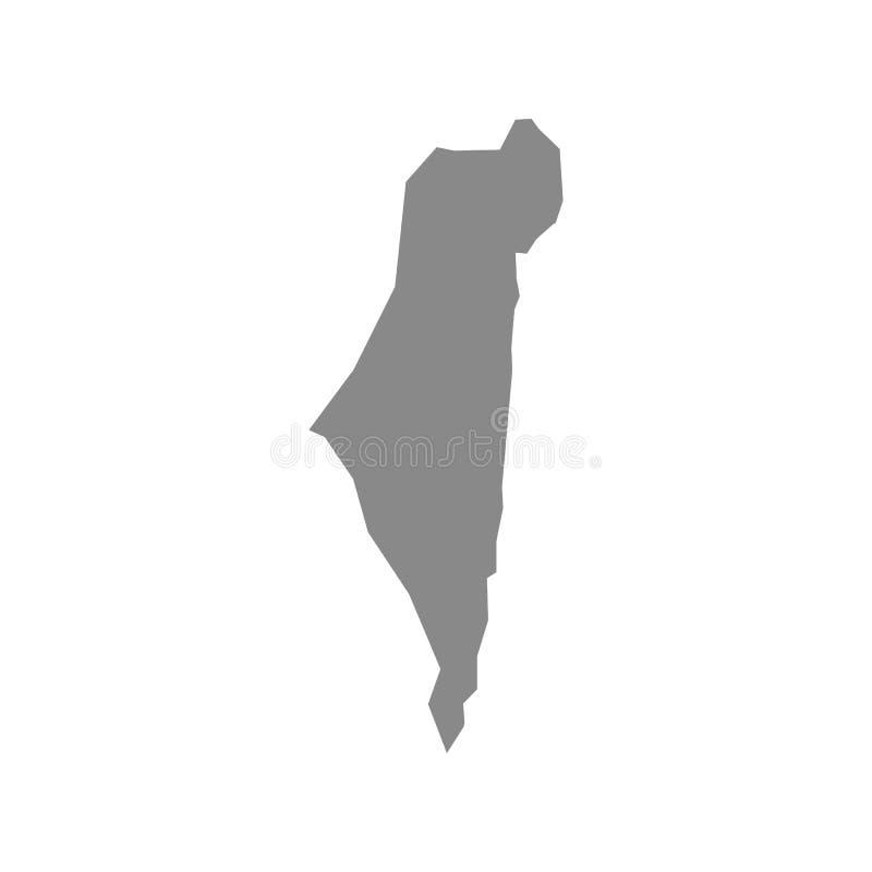 以色列传染媒介例证地图  向量例证