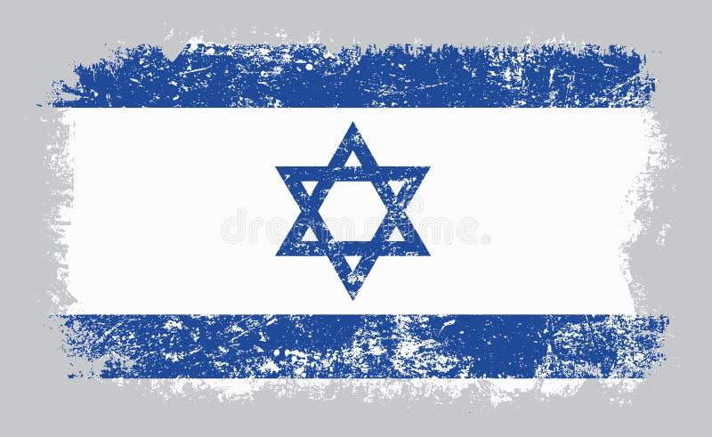 以色列传染媒介例证难看的东西老旗子  库存例证