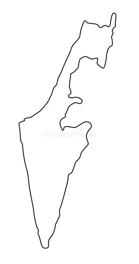 以色列地图概述传染媒介例证 向量例证