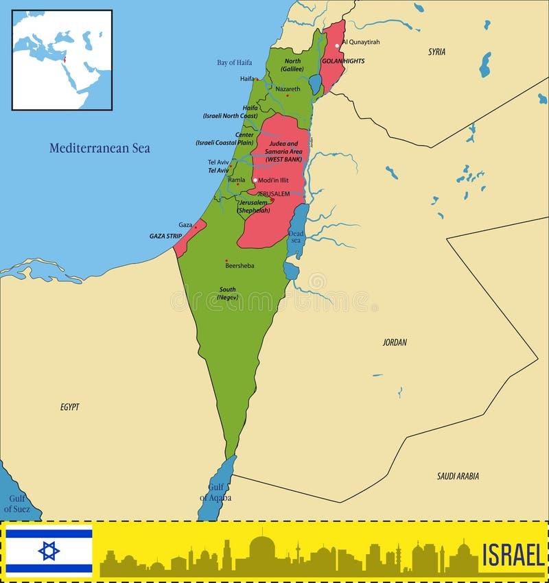 以色列地图 皇族释放例证