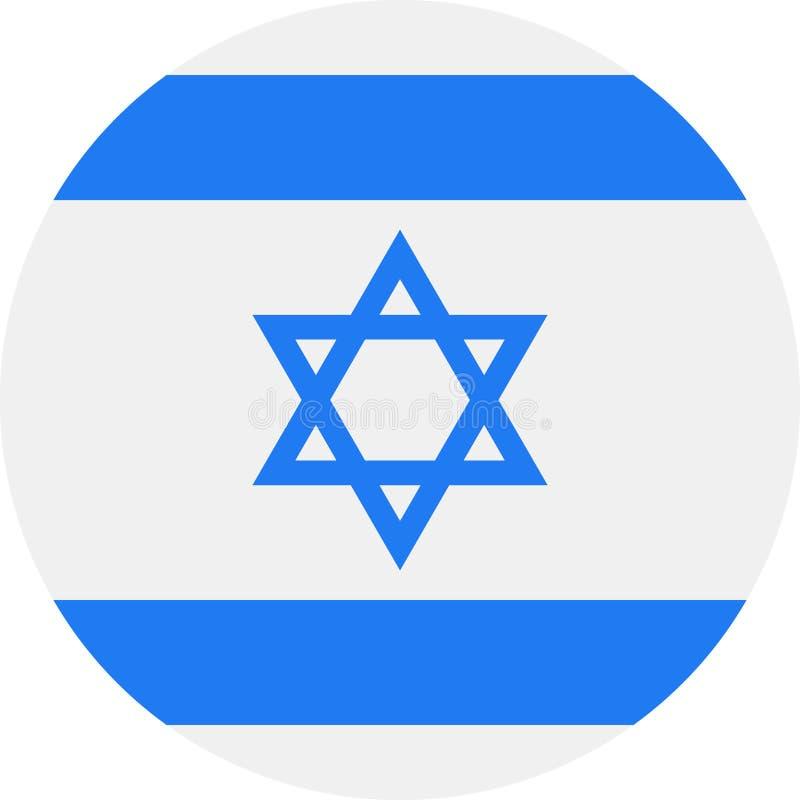 以色列旗子传染媒介圆的平的象 库存例证
