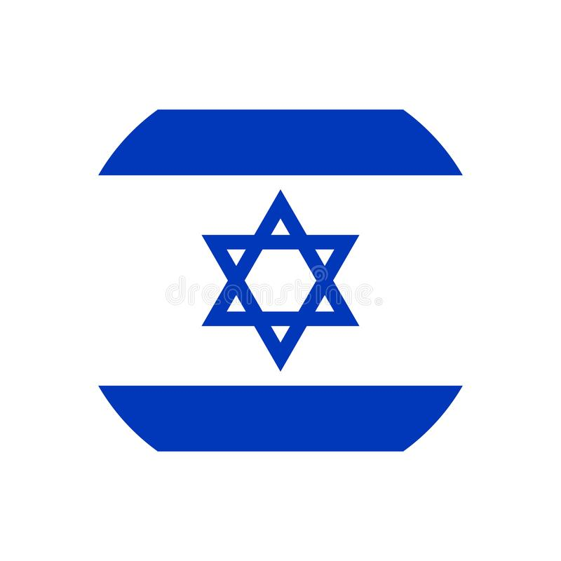 以色列旗子象传染媒介孤立印刷品例证 向量例证