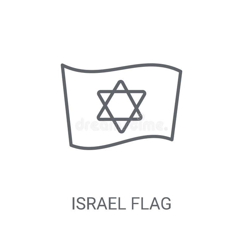 以色列旗子象 在白色backg的时髦以色列旗子商标概念 库存例证