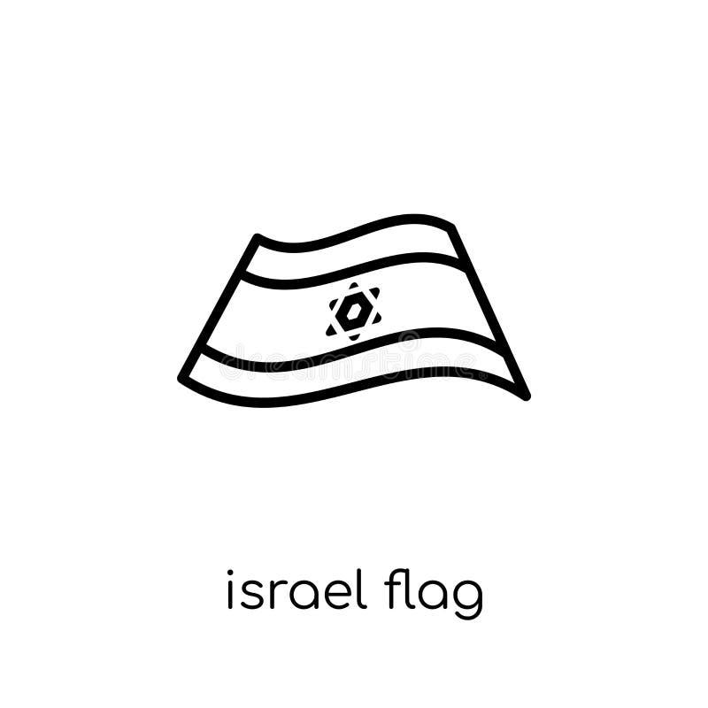 以色列旗子象 时髦现代平的线性传染媒介以色列旗子i 皇族释放例证