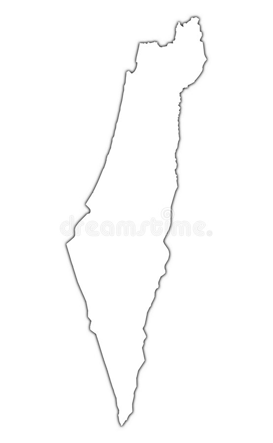 以色列映射分级显示 库存例证