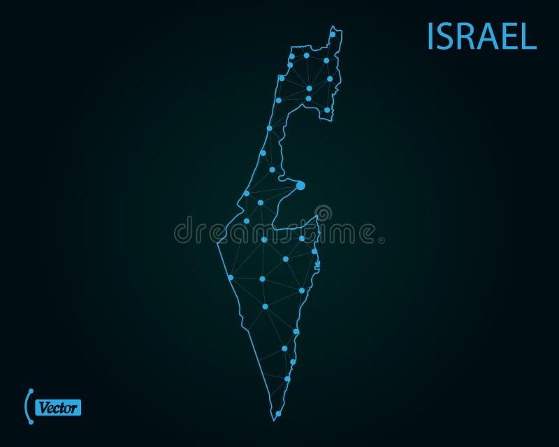 以色列映射 也corel凹道例证向量 例证映射旧世界 向量例证
