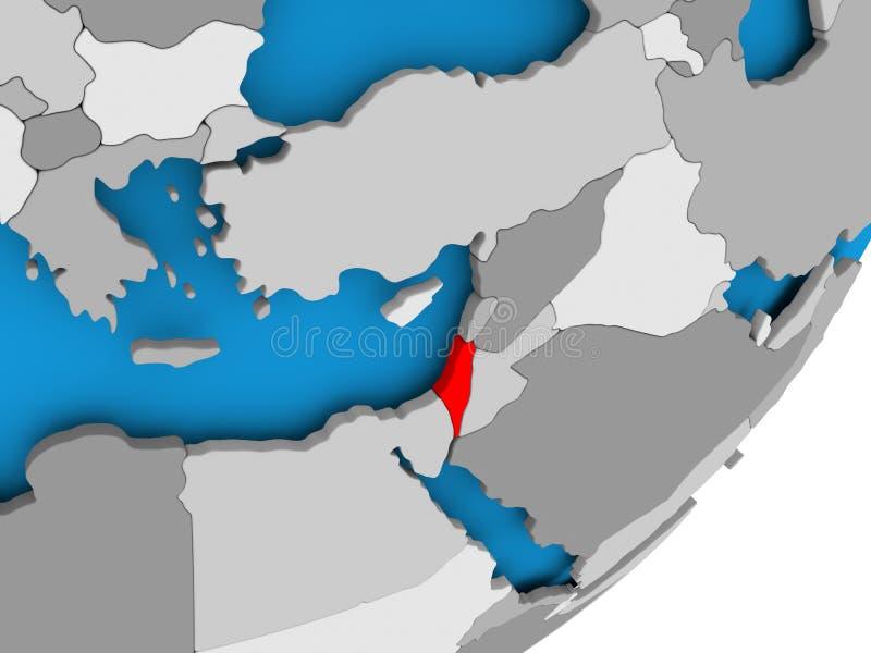以色列映射 皇族释放例证