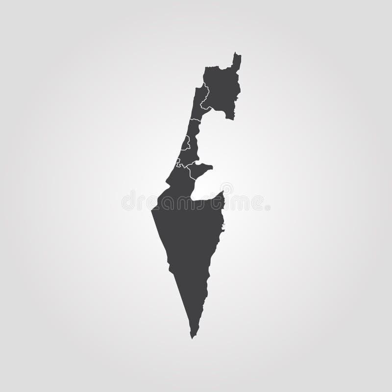 以色列映射 库存例证