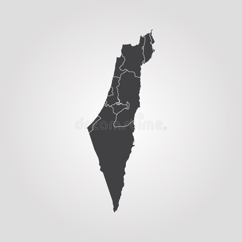 以色列映射 向量例证