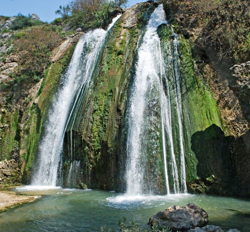 以色列瀑布 免版税库存照片
